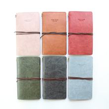 Domikee classic macaron leather office school traveler refillable journal planner and notebooks set gift stationery supplies
