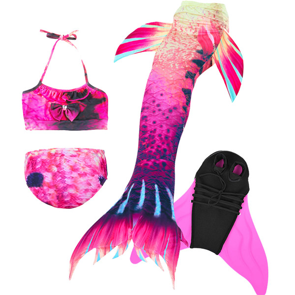 Girls-Mermaid-Tail-with-Swimming-Flipper-Swimable-Mermaid-Tail-Swimable-Monofin-Bikini-Swimwear-Children-Swimsuit-Diving(9)