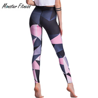 Monster Women Printed Yoga Pants Fitness Sportswear Slim Fit Sports Leggings 2018 Gym Trousers Running Tights