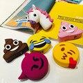 Banco Do poder 2600 mah Banco de Potência Em Forma Unicórnio Engraçado Bonito Emoji Material PVC Carga Powerbank Móvel Dos Desenhos Animados Para O Telefone Móvel