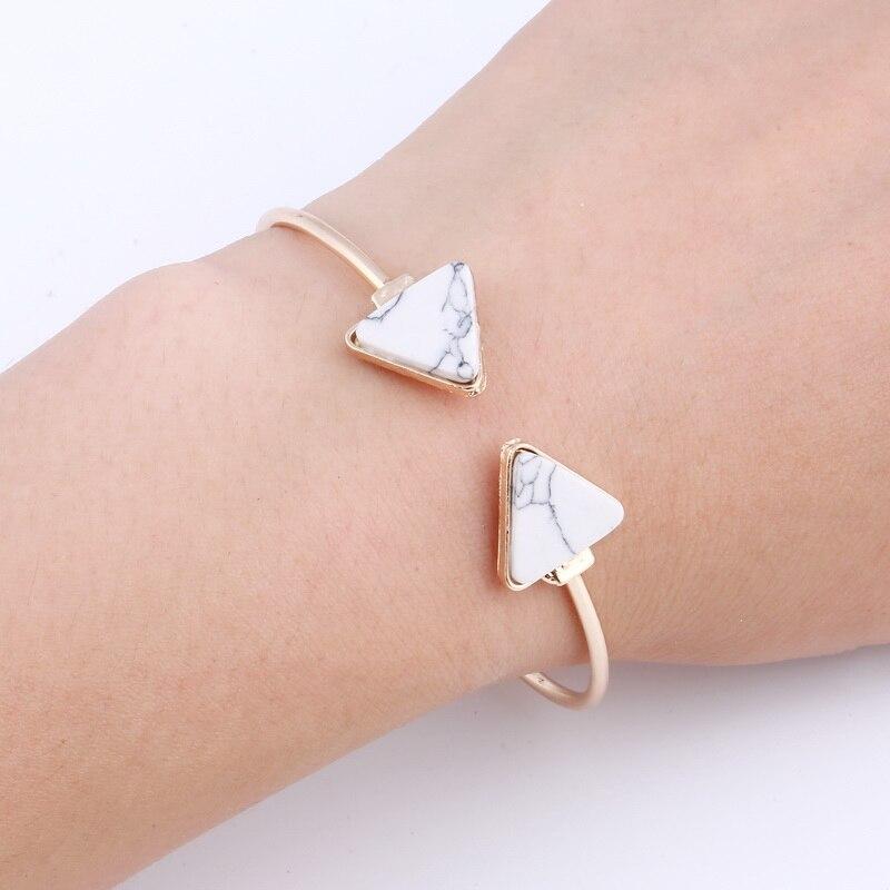 ZOSHI 2017 Natural stone Cuff Bracelet Manchette Bangle Bracelet For Women Wholesale Pulseiras bridesmaid Jewelry Knot Bangle