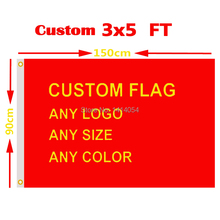 Custom Flag 3x5 FT Hot Sell Banner Free Design 100D Polyester Advertising Outdoor Flag Brass Grommets, Free Shipping