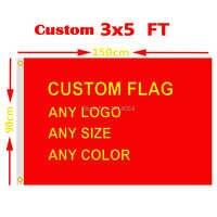 Drapeau personnalisé 3x5 FT vente chaude bannière conception libre 100D Polyester publicité extérieure drapeau en laiton œillets, livraison gratuite