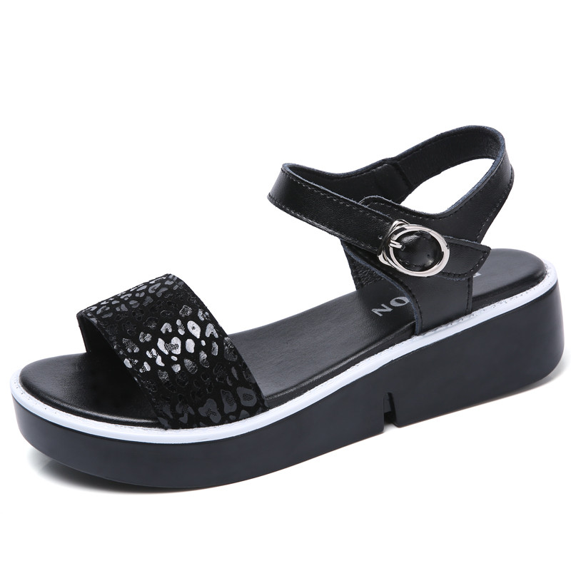Fashion Women Sandals Summer shoes 2017 wedges Open Toe Thick Heel Mujer Soft PU Women Platform Sandals high-heeled Shoes Woman summer shoes woman platform sandals women soft leather casual open toe gladiator wedges women nurse shoes zapatos mujer size 8