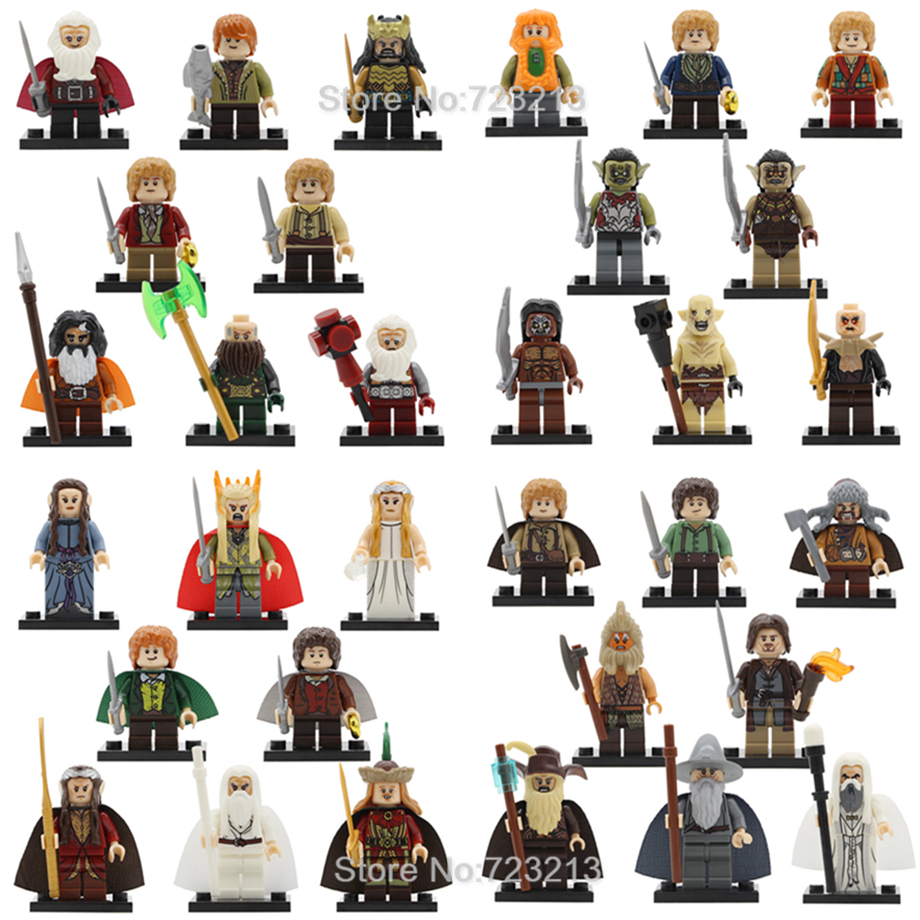 32pcs/lot Ring Lords Figure Set Frodo Baggins Gandalf Radagast Thranduil Elrond Galadriel Merry Building Blocks Model Bricks Toy32pcs/lot Ring Lords Figure Set Frodo Baggins Gandalf Radagast Thranduil Elrond Galadriel Merry Building Blocks Model Bricks Toy