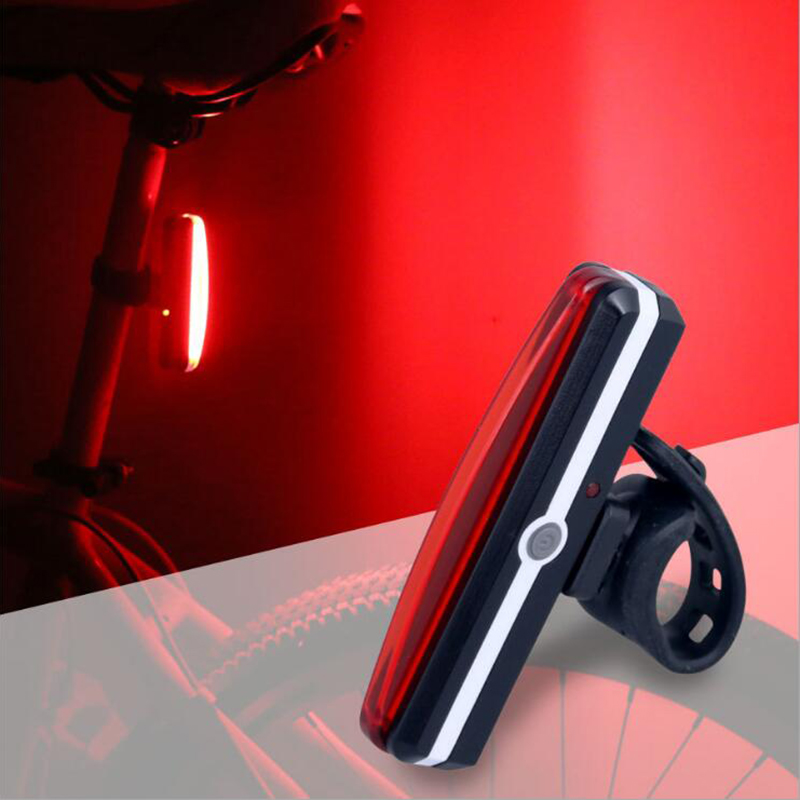 New Bicycle USB Rechargeable LED Light Bike Front/Rear Light Outdoor Cycling Bicycle Warning Lamp Bike Night Safety Taillight