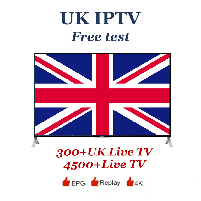 UK IPTV Subscription Europe IPTV around 300+UK channels 4500 Live TV and VOD for m3u8 mobile pc Enigma2 Android tv free test
