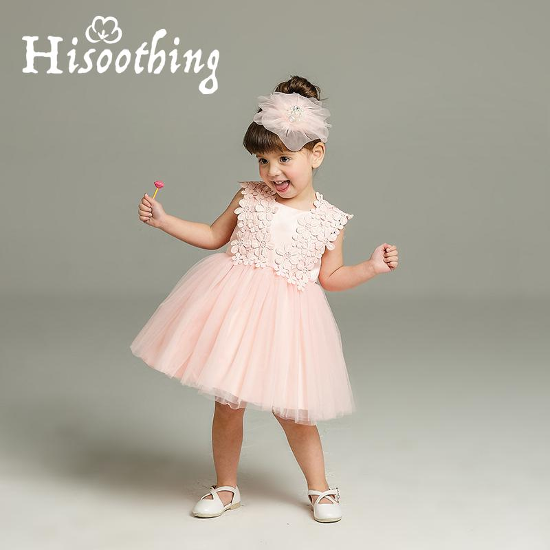 Vintage Lace Baby Girl Wedding Pageant Dress Infant Princess Little Girls Birthday Party Dress Lace Big Bow Sleeveless Dress 2017 new high quality girls children white color princess dress kids baby birthday wedding party lace dress with bow knot design