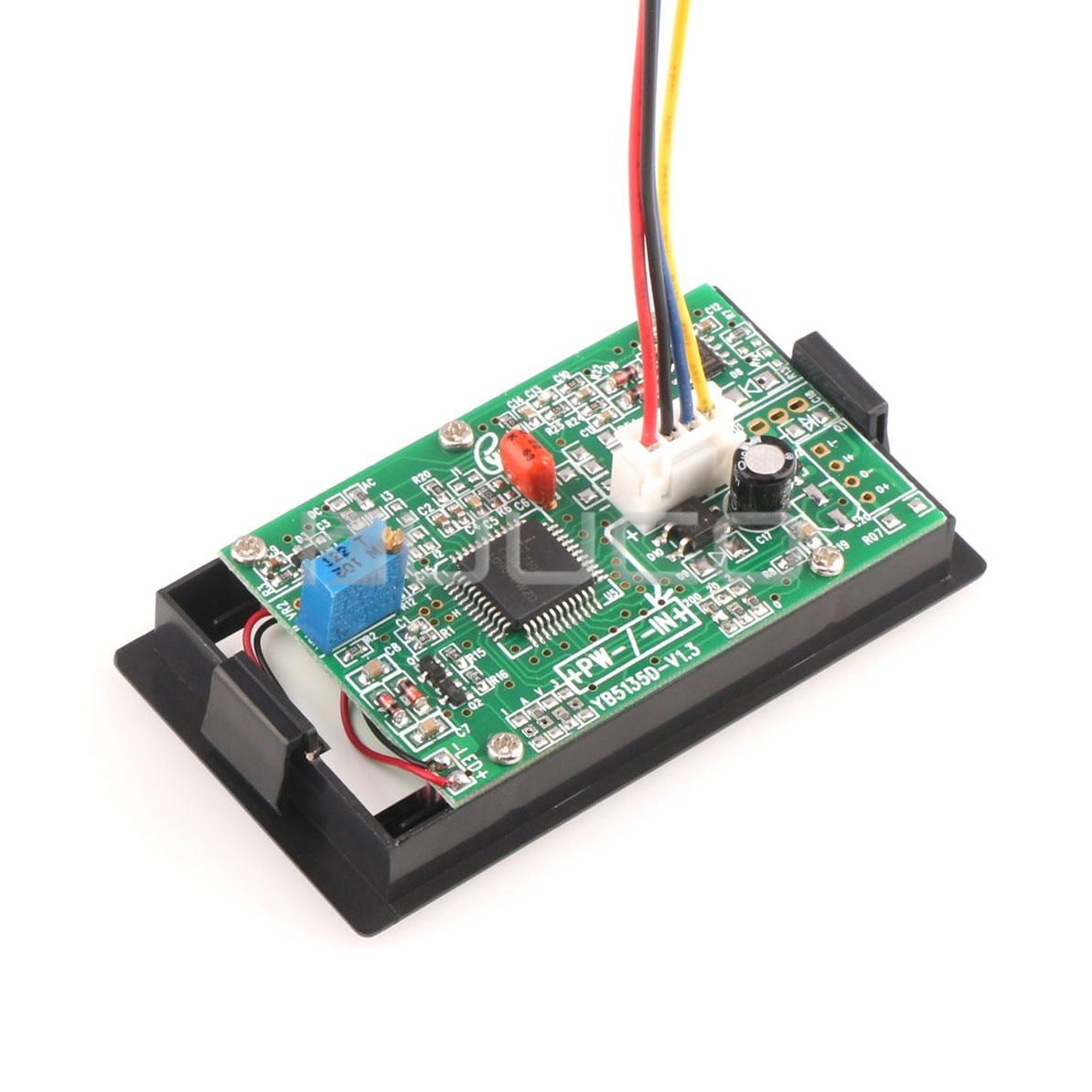 medium resolution of digital tester lcd ammeter ac 0 200a digital current meter ac dc 8v 12v amp meter gauge ampere meter shunt resistor in instrument parts accessories