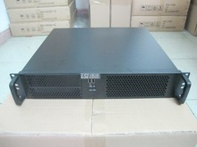 2U390 short computer case 2 USB server firewall industrial 19-inch rack Chassis