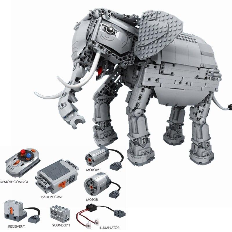 Blocs techniques créateur RC télécommande éléphant 1542 pièces modèle électrique blocs de construction jouet pour enfants assembler bloc technique-in Blocs from Jeux et loisirs    1
