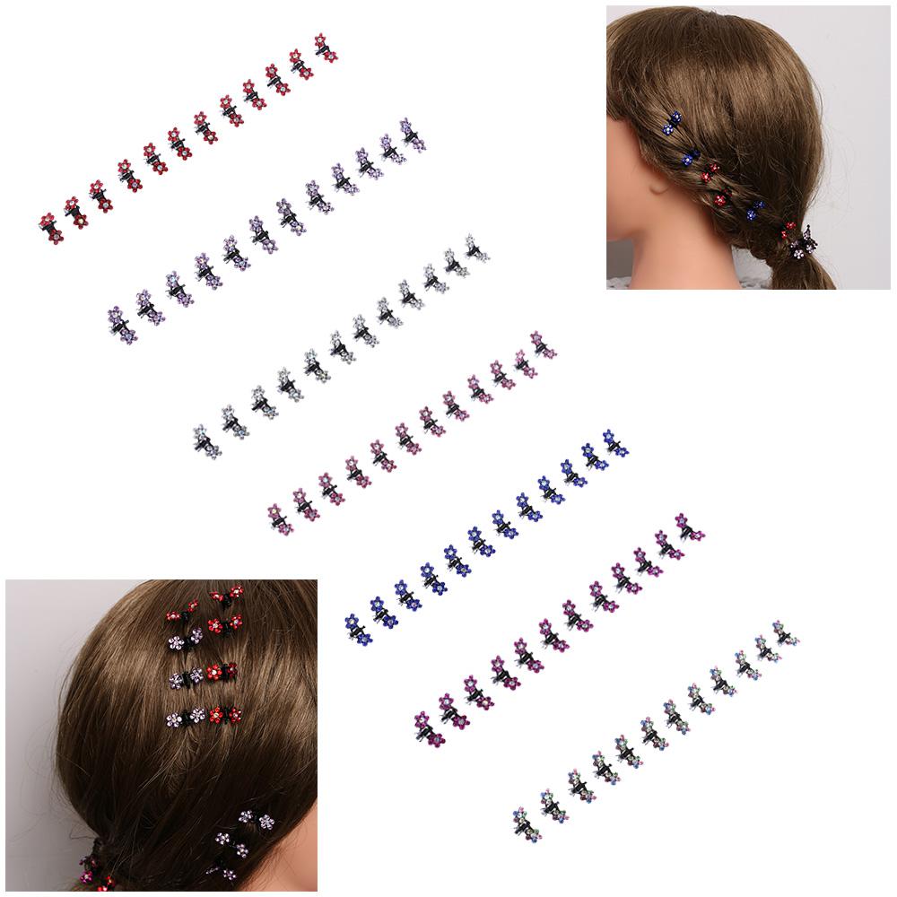 HTB1K8mXQVXXXXa_XXXXq6xXFXXXF Bejeweled 12-Pieces Rhinestone Crystal Flower Mini Barrette Hair Claw For Women - 7 Colors