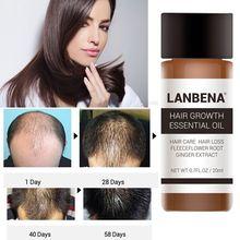 1 Pc 30ML LanBeNA Powerful Hair Growth Essential Oil Treatment anti Hai