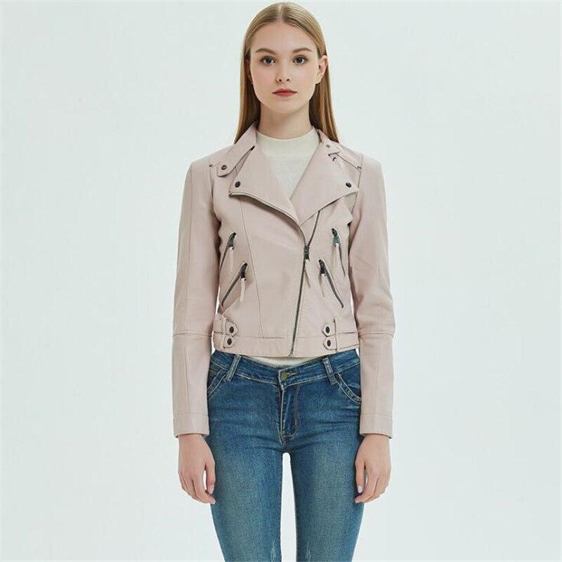 Leather   Jacket Women Zipper Belt Moto Jacket Cool Streetwear Ladies   Suede   Faux   Leather   Jacket Autumn Winter Coat 2018 New