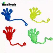 Визуальный контакт 12 шт. липкая ладонь дети липкие руки ладони подарки для гостей игрушки слизи карабкающийся, на липучках призы подарки на день рождения
