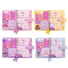 цена на Portable Lovely Cartoon Pattern Diary Hand Book Notebook With PU Cover Writing Paper Journal Travel Planner Notepad Gift