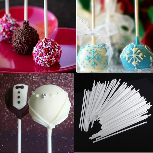Hot sale 5packs total 100cs length 10cm Pop Sticks Chocolate Cake Cookie Lollipop Lolly Candy Making Mould