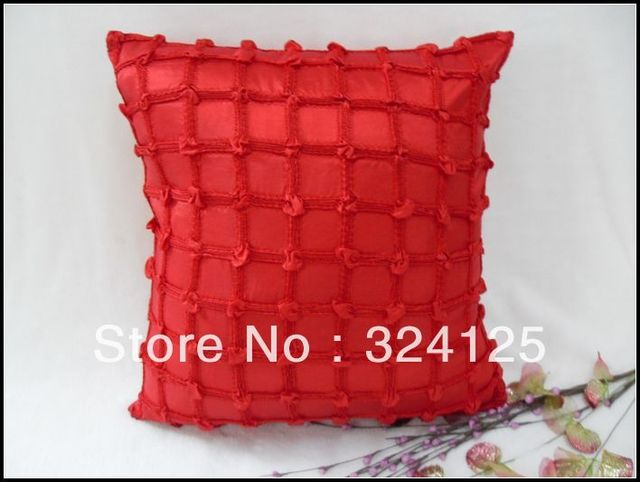 Wholesale Free Shipping 10pcs  3D plain pattern decoration fancy cushion cover 45X45CM 2 color in
