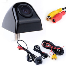 Envío Gratis Cámara de visión Trasera CCD HD Universal de La Noche visión nocturna Impermeable de opinión posterior del coche de aparcamiento Marcha Atrás cámara de TV NTSC sistema