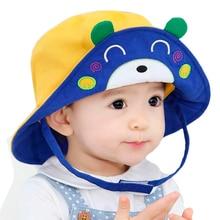 2016 New Arrival Baby Sun Hat Cap Child Photography Prop Spring Summer Outdoor Wide Brim Kids Baby Girl Boy Hat Beach Bucket Hat