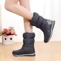 Waterproof Women Winter Shoes 2017 New Arrivals Crystal High Quality Warm Women Boots Zipper Resistant Snow