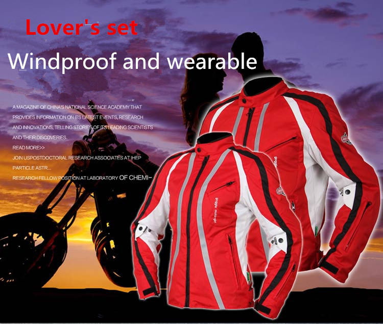 Winter jackets for women Men Blue Red Waterproof Durable Motorcycle Body Armor Jacket High Visible Moto Clothes