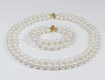 Hot selling free shipping*****DOUBLE STRANDS SOUTH SEA AAA 9-10MM WHITE PEARL NECKLACE 18