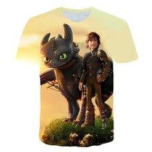 2019 Faddish  Arrival T Shirts Anime Printed How To Train Your Dragon T-shirt Summer Harajuku Streetwear Funny Print Shirt