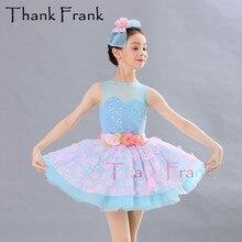 Балетное платье для девочек Купальник платья Для женщин блесток балетные костюмы для восточных танцев без рукавов танцевальный комбинезон C546