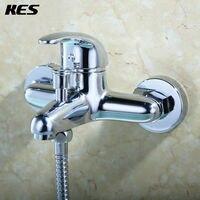 KES L500A1 Bathroom Lavatory Bathtube Shower Faucet Wall Mount, Polished Chrome
