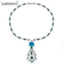 لويتيمي جديد العرقية الثريا قلادة للنساء الفاخرة تشيكوسلوفاكيا مجوهرات لحفل الزفاف مزدوجة اللون Colar Feminino هدية الكريسماس