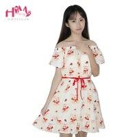 Cute Bear Strip Off Shoulder Short Sleeves Dress Japanese Lolita Dress