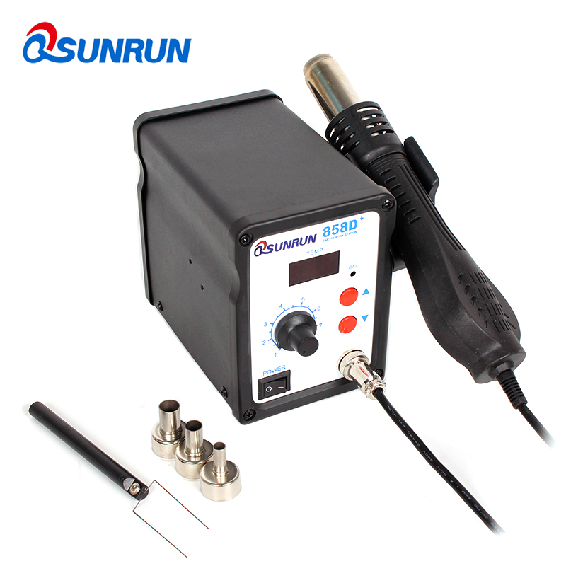 858D 110V 220V 700W ESD BGA 858D Plus Hot Air Soldering Rework Station LED Digital Heat