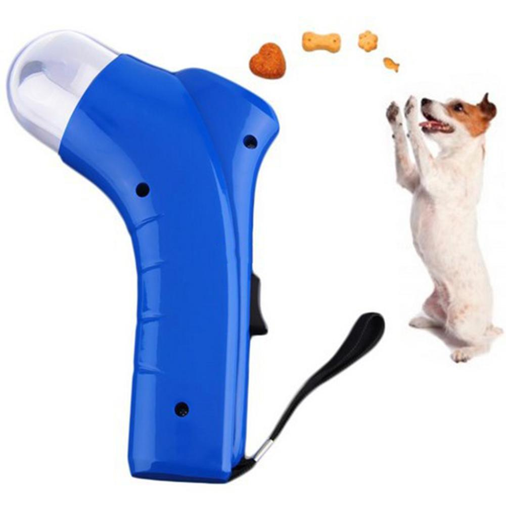 TINGHAO Dog Cat Treat Launcher Snack Food Feeder Catapult Pet Interactive Training Tool Dog Feeders