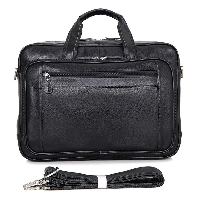 Fashion Vintage Men Cow Genuine Leather Business Briefcase Laptop Handbag Shoulder Messenger Bag Briefcase Crossbody Travel