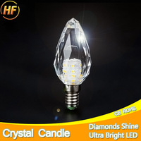 Perfect Shine K5 Crystal LED Candle Bulb E14 7W LED Light 220V Led Lamp Lampada Bombillas