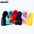 2016 Children Candy Color Warm White Duck Down Jackets Boy And Girl Clothes Kids Sports Hooded Ultralight Soft Down Coat 2-12T