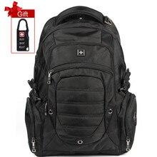 Alta calidad 2016 diseñador de la marca swissgear Swisswin mochila bolsas de viaje mochilas escolares 15.6 pulgadas bolsa de ordenador portátil de los hombres + Free regalo