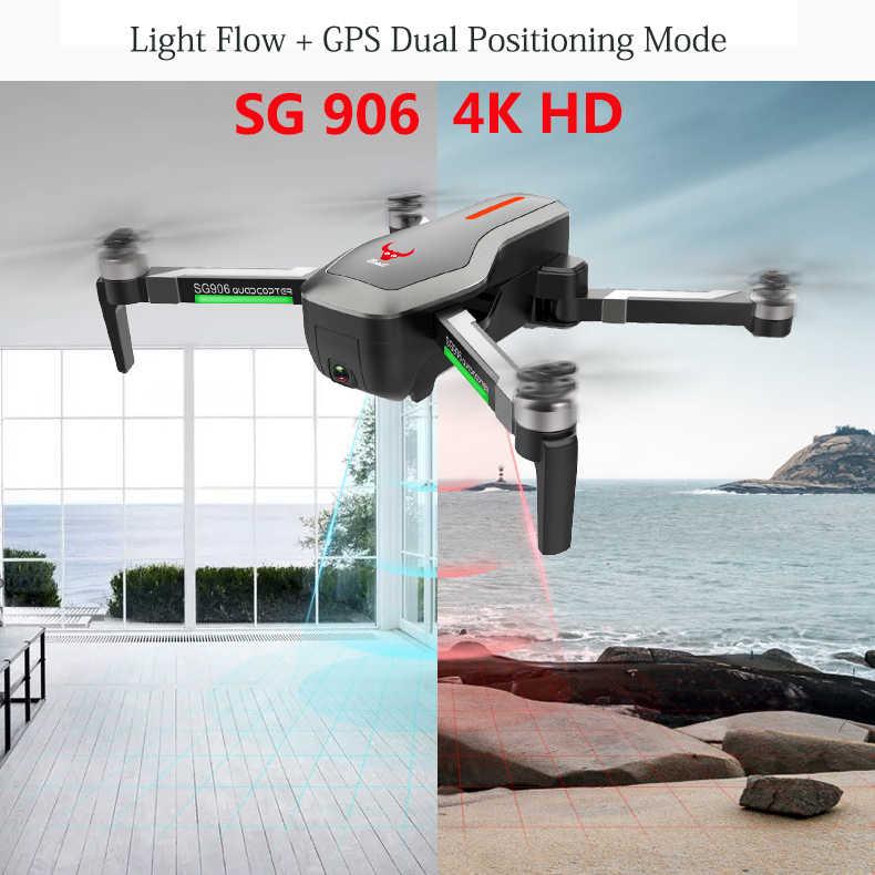 Rc zangão câmera aérea drones quadcopter 4k dron hd câmera wifi fpv rc helicóptero de controle remoto brinquedos crianças zangão sg906 sg900
