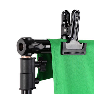 Image 4 - 4PCS Strong Spring Clamp Photography Studio Backdrop Clamps Multi function Metal Spring Clamp Background Stand holder Clip
