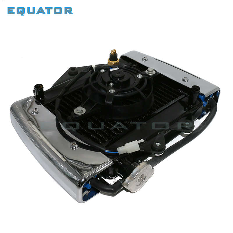 motorcyel parts 200cc 250CC engine Water cooling cooler Radiator cooler Radiator 12v fan for motorcycle moto Quad 4x4 ATV UTV oil cooler water cooler new electric radiator cooling fan for ktm 2016 exc 250c chinese atv quad go kart buggy dirt bik