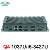 9 36 В широкий напряжения безвентиляторный мини ПК компьютер оборудования с Intel 1037U/i5 3427U Процессор для 2 lan с wake on lan