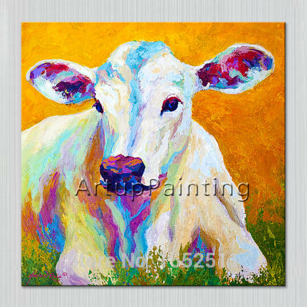 Pop art sheep Pets on canvas modern abstract oil painting handmade oil painting Animal Pop Art Home Decor Living Room