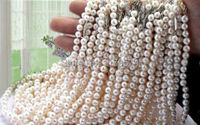 New woman jewelry Cheap classics fashion charming Wholesale 5pcs 7-8mm White Akoya Pearl Necklace Gifts For Girl Women 17