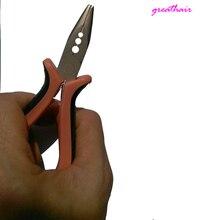 Плоскогубцы с 3 отверстиями, инструмент для наращивания волос, зажим, плоскогубцы для микро кольца со звеньями, бусинами и перьями, инструменты для наращивания волос, плоскогубцы