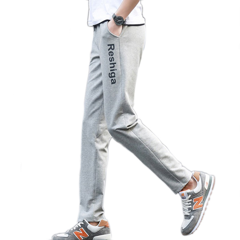 Männer Hosen beiläufige dünne Frühling 2019 neue männliche Hose Herbst Teenager Jungen gerade Hosen Student plus Größe schwarz grau 4XL 5XL