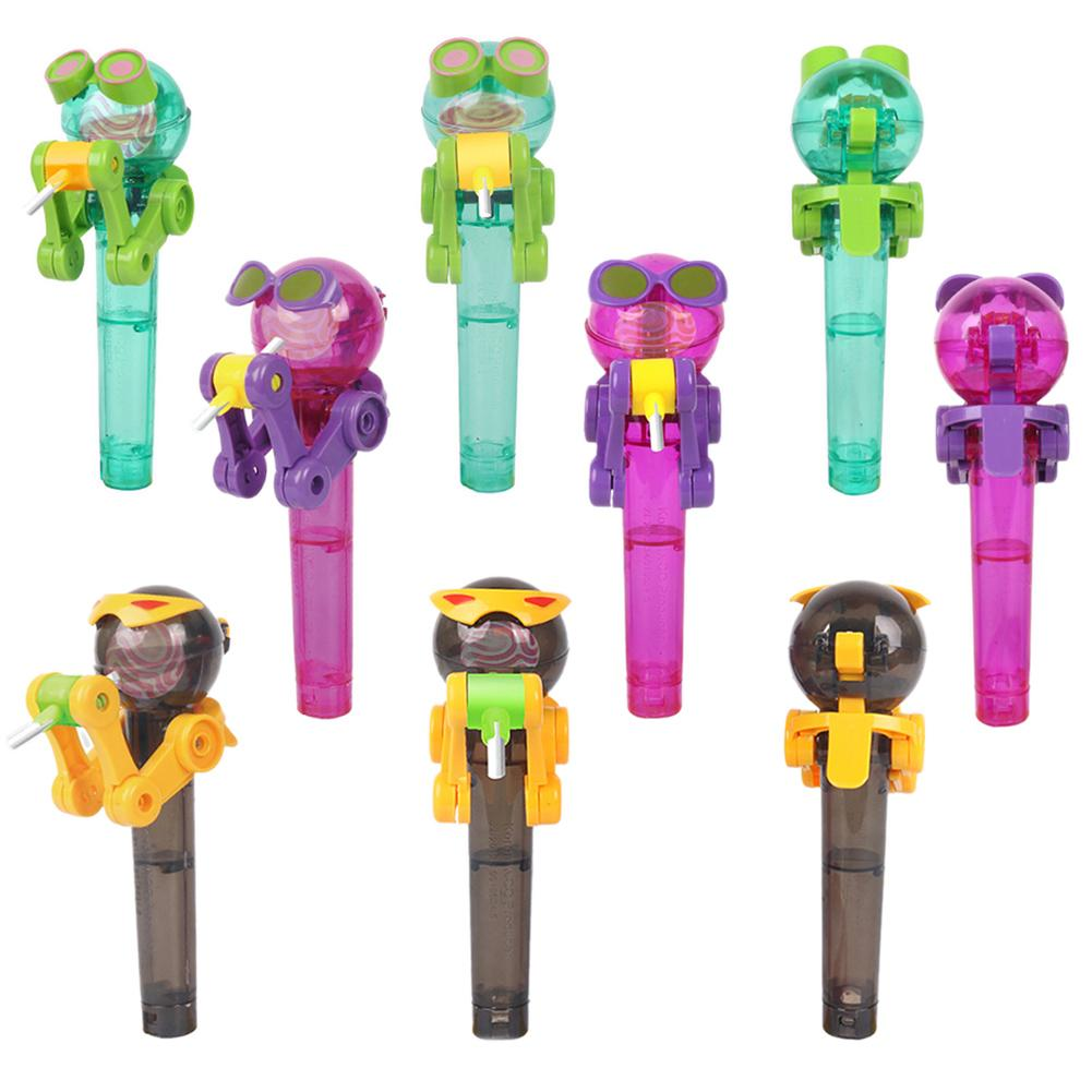 Creative Novelty Toy Funny Lollipop Robot toy Lollipop Holder Decompression candy dustproof toy gift Drop Shipping candy gourd ice lollipop mould assorted color