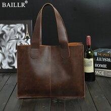 جديد حقائب جلدية خمر الرجال حقيبة ساعي براون/أسود حقيبة أعمال فاخرة وثيقة المحامي حقيبة لابتوب بالجملة