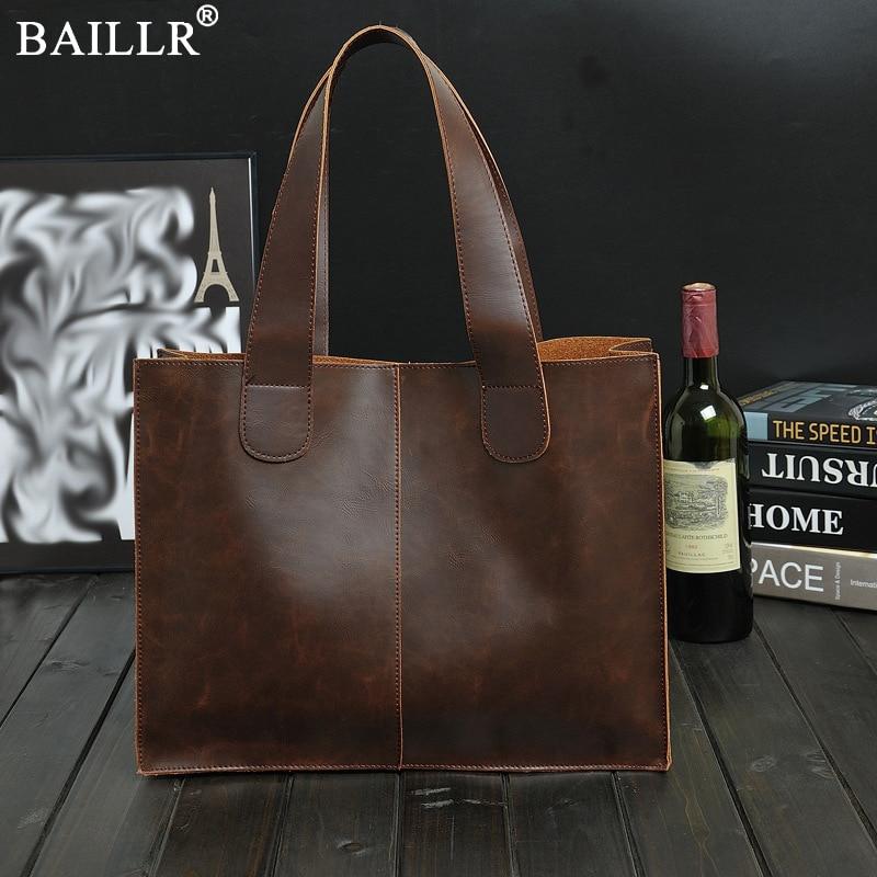 2020 New Vintage Leather Briefcases Men Messenger Bag Brown/Black Luxury Business Briefcase Document Lawyer Laptop Bag Wholesale