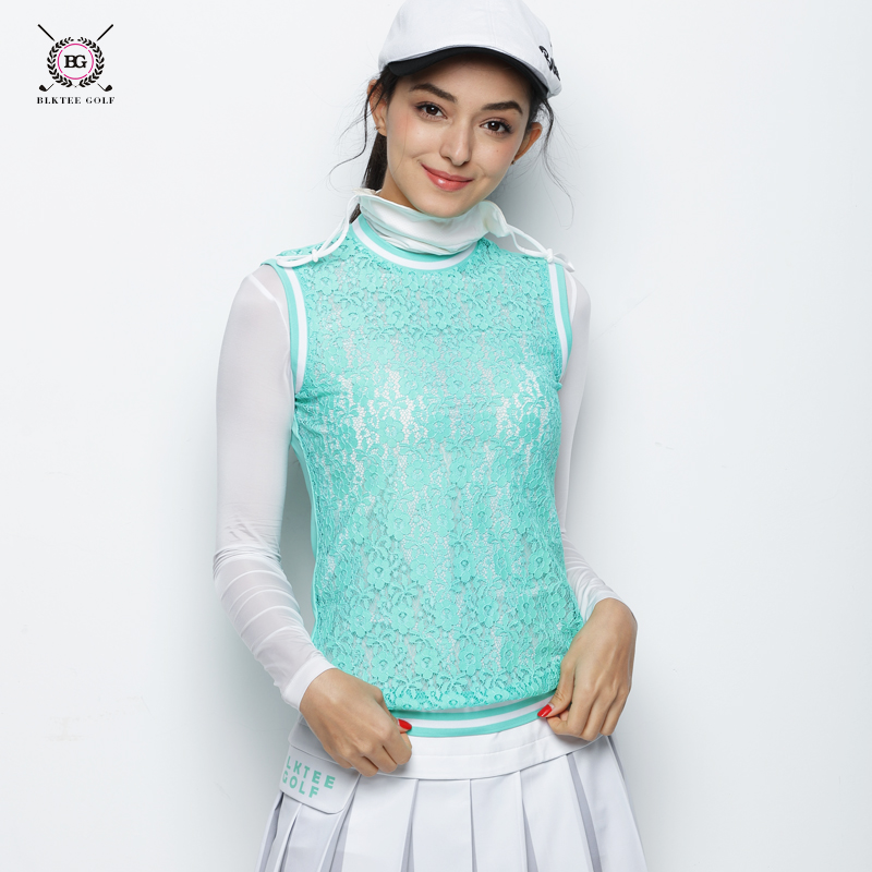 Summer BG New Arrival polo shirt women Hollowed Lace Waist Shirt Breathable Quick Dry Sleeveless Ladies Golf Sports T - shirts quick dry breathable high visibility yellow polo shirt t shirt